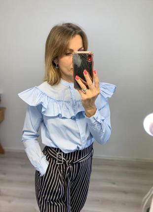 Хлопковая блузка рубашка mango