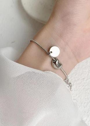 Дуже красивий та стильний срібний браслет