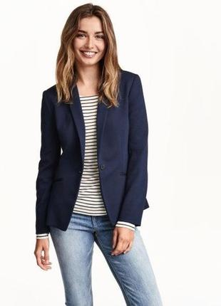Hm синий жакет пиджак блейзер