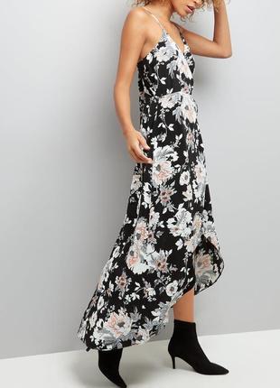 New look.товар из англии. платье с каскадной асимметрией.