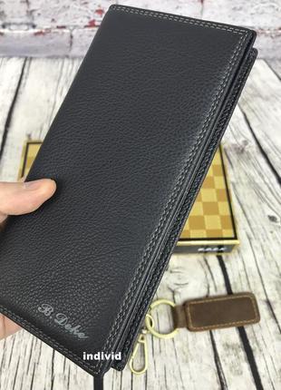 Мужское кожаное портмоне на молнии. мужской кошелек из натуральной кожи. кожаный бумажник
