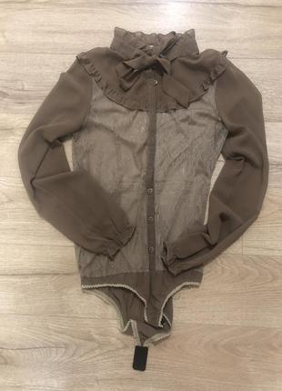 Нарядна блуза рубашка боді