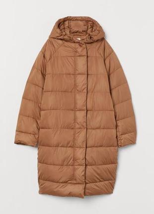 Шикарное пальто пуховик h&m роскошного размера