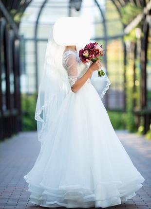 Весільна сукня / весільне плаття victoria bride xs/s айворі