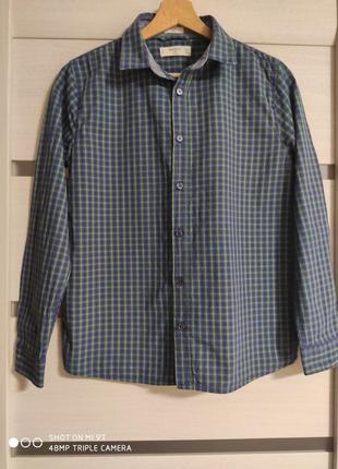 Рубашка хлопок mango рост-152см 11-12лет