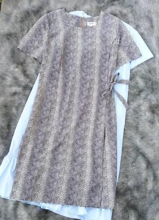 Платье с драпировкой запахом