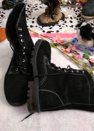 Чобітки-черевички замшеві.