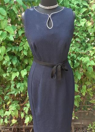 Платье футляр осеннее осень трикотажное деми трикотаж офисный