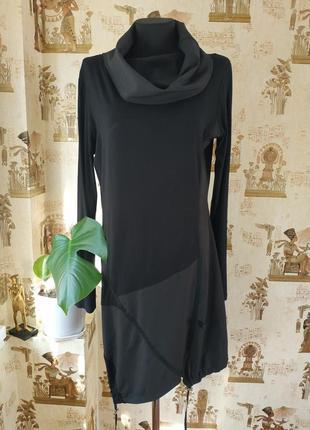 Dolce viita/актуальное комбинированное платье миди в стиле спорт шик
