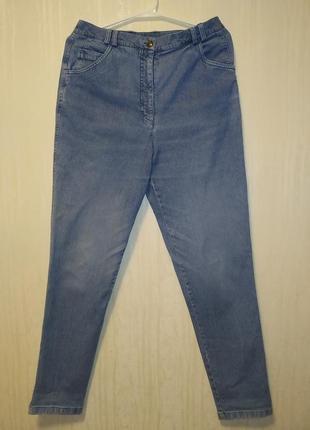 Хлопковые джинсы мом высокая посадка от delmod.