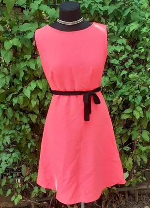 Платье солнцеклеш пышная свободная юбка яркое миди