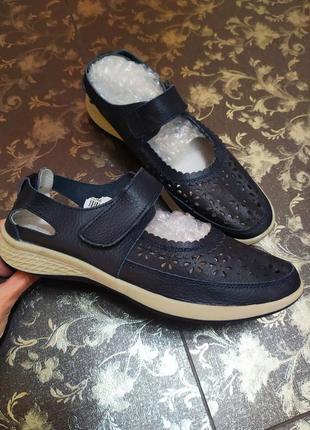 Мокасины кожані 39 25 см softlites босоніжки туфли макасины ботинки натуральные кожаные