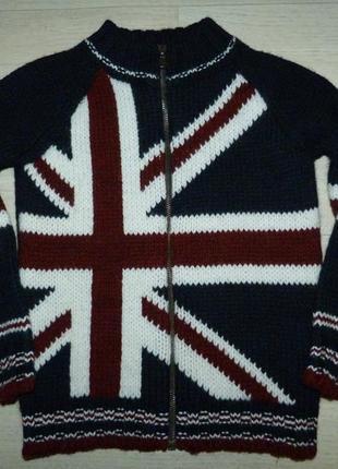 Теплая кофта на замке united colors of benetton 6-7 лет