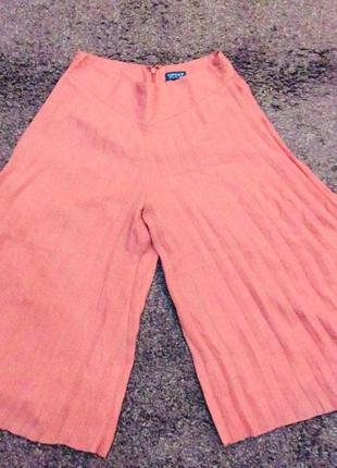Широкие короткие штаны кюлоты topshop
