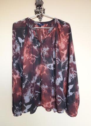 Шикарная блуза- оверсайз с обьемными рукавами
