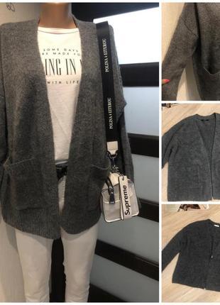Тёплый стильный кардиган кофта свитер с карманами