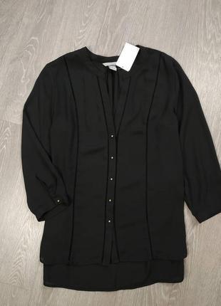 Черная шифоновая блуза