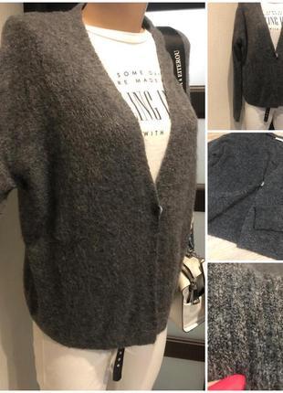Мягкий тёплый серый кардиган кофта пуловер