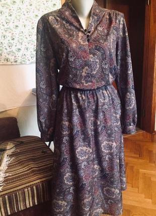 Платье миди ,длинный рукав,принт пейсли, от бренда c&a