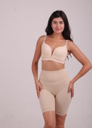Корректирующие шорты для тренировок утягивающие трусы панталоны с утяжкой живота бандаж