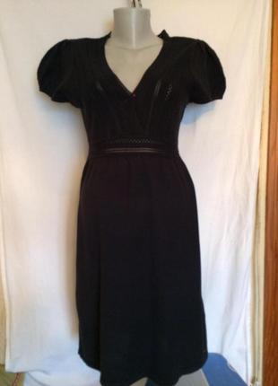 Стильное черное трикотажное платье от s.oliver