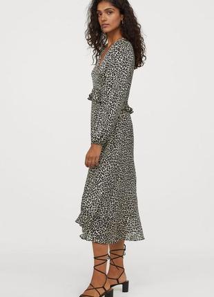 Шикарное шифоновое платье 👗 миди/макси  h&m ♥ 42/44