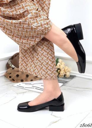 Стильные лаковые туфли toto натуральные