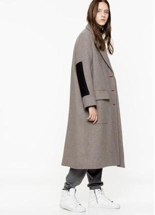 Новое пальто zadig & voltaire оригинал шерсть утеплённое премиум оверсайз