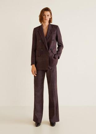 Классические шерстяные брюки mango premium, шерсть