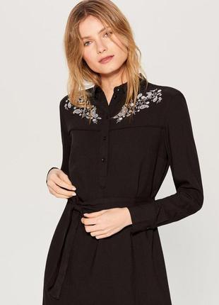 Лимитированное платье рубашка с вышивкой