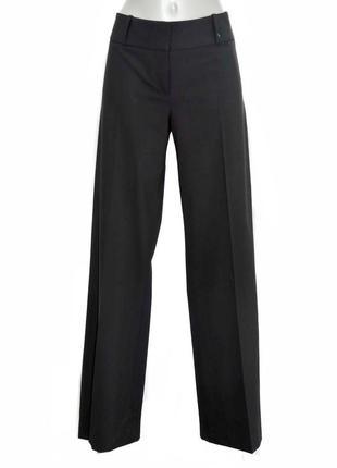 Шерстяные женские черные классические брюки hugo boss. код 0003.