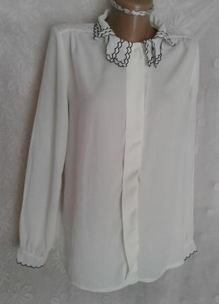 Шифоновая белая блузочка, м