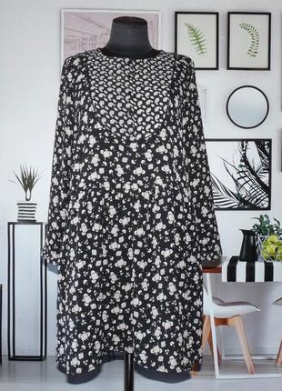 Платье свободного кроя бохо с цветочным принтом zara