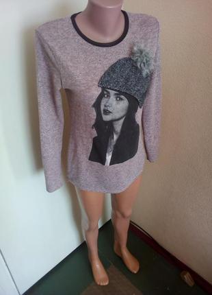 Кофта, свитер принт
