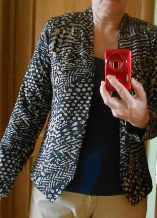 Пиджак летний легкий тонкий анималистический принт легкий подкладка без пуговиц mork