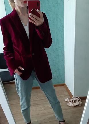 Шикарный удлинённый пиджак, жакет прямого кроя от massimo dutti
