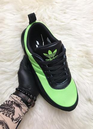 Кроссовки adidas sharks green black