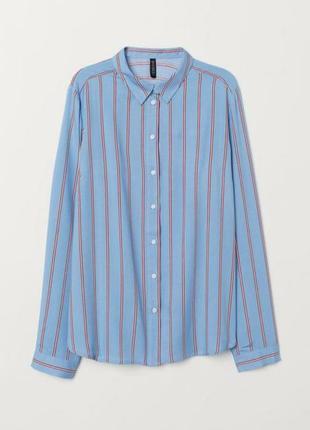 Тонкая рубашка в полоску