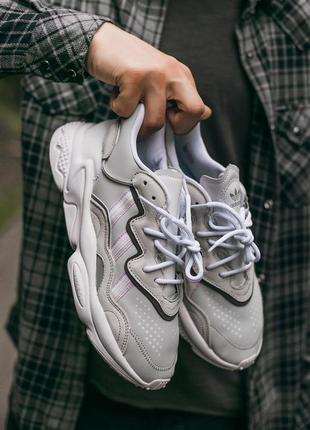"Кросівки adidas ozvego «white\grey"" кроссовки"