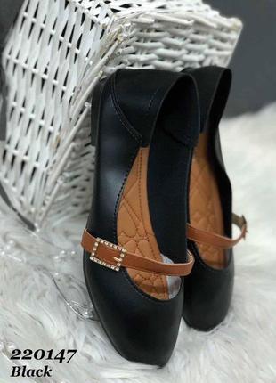 Туфельки женские качественная экокожа
