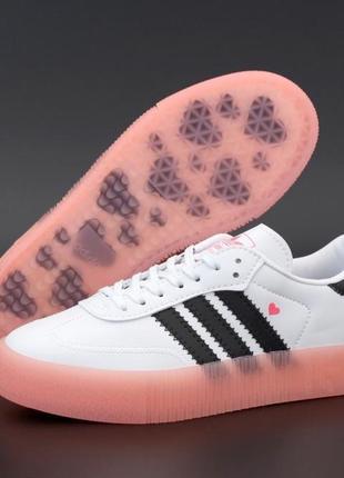 Женские кроссовки. кеды кожаные adidas samba