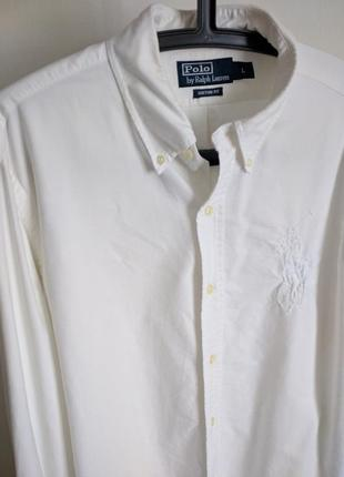 Рубашка polo by r.l. белая