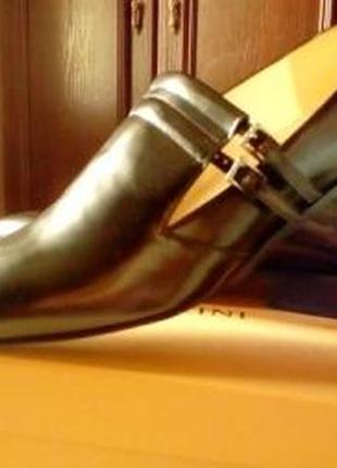 Туфли лоферы черные, 36 размер, стелька 23 см