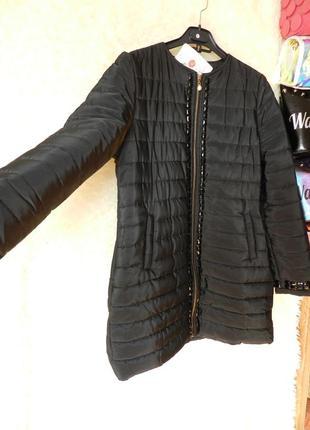 ✅ пальто куртка с камнями рр 46-48 евро зима холодная