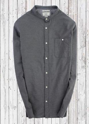 Котоновая рубашка с воротником стойка