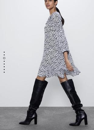 Платье в ромашку zara