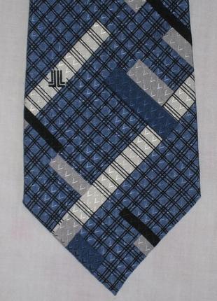 Шелковый галстук в клетку lanvin