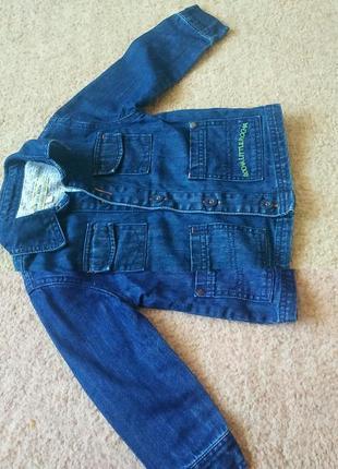 Джинсова курточка на 18-24 місяці