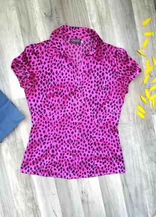 Супер блуза, атласна, леопардовий принт oggi s