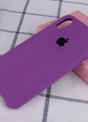 Фиолетовый силиконовый чехол с микрофиброй iphone xr